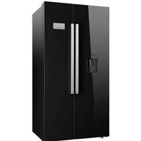 Beko ASD241B Frost Free Black American Fridge Freezer With Non-plumbed Water Dispenser - Black
