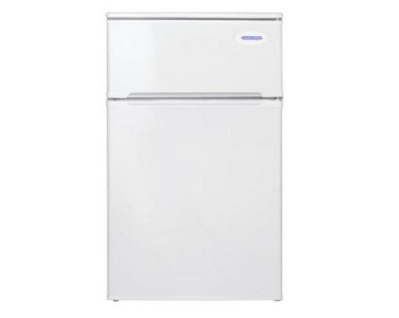 Free Standing Under Counter Mini Fridge Freezer In White - DOMFF850WH
