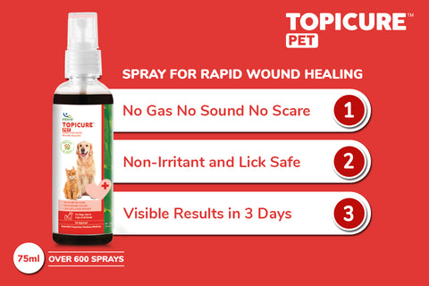 """Use """"Topicure Pet"""" for Wounds"""