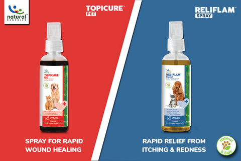 """Counter Skin Problems with All-Natural """"Reliflam"""" and """" Topicure Pet"""""""