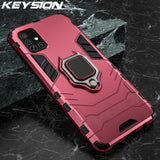 KEYSION Shockproof Case for Samsung A51 A71 A31 Phone Cover for Galaxy S20 Ultra S10 Lite Note 10 Plus A50 A70 A40 A10 A12 A21S
