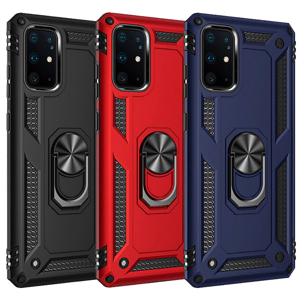 Armor Magnetic Case For Samsung Galaxy A51 A21s A20s A50 A70 A71 S20 S10 S9 S8 Note 9 8 10 Plus A20 A30 A81 A31 A20E Ring Cover