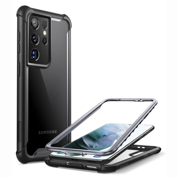 I-BLASON For Samsung Galaxy S21 Ultra Case 6.8 inch (2021) Ares Full-Body Rugged Bumper Cover WITHOUT Built-in Screen Protector
