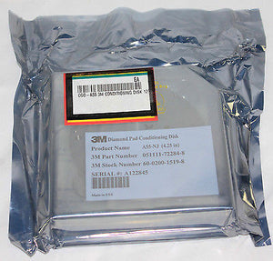 "3M DIAMOND PAD CONDITIONING DISK 4.25"", p/n 051111-72284-8, NEW"