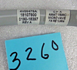 Applied Materials, ASSY, HOSE, AMAT, MICROWAVE CH A, p/n 0190-18397