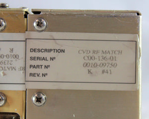 AMAT Applied Materials, IMR RF MATCH ETCH, p/n 0010-09416