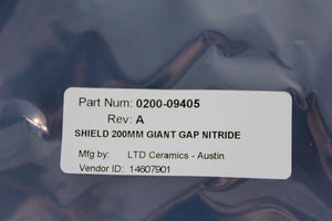 APPLIED MATERIALS (AMAT), RING CERAMIC 200MM NITRID, p/n 0200-09405, Pic 02