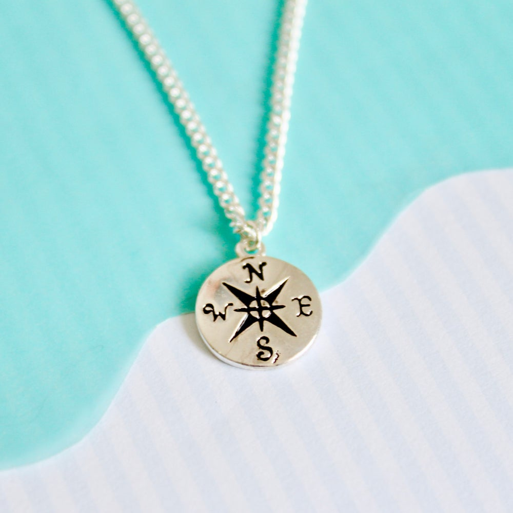 Show Me The Way Compass Necklace