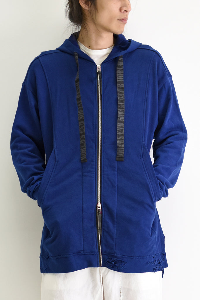 1901-TP03B/LS World's End Crush Parka Indigo