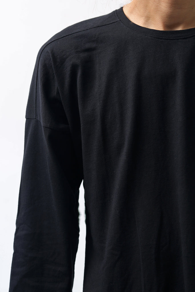 1902-CT02/LS Back Stitch Crush Cut / LS Black