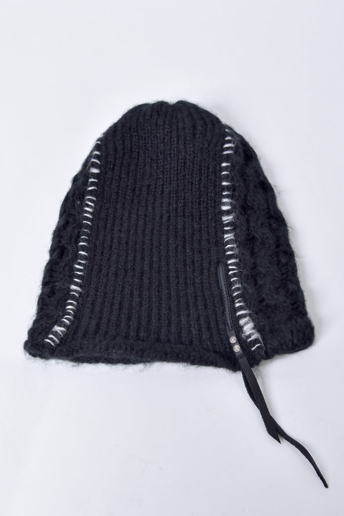 2002-KT05 Cable Mohair Beanie 02 Black