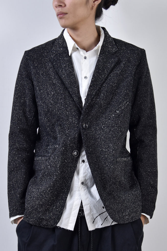 2002-JK08 Discharged Twill Tailored Jacket Black
