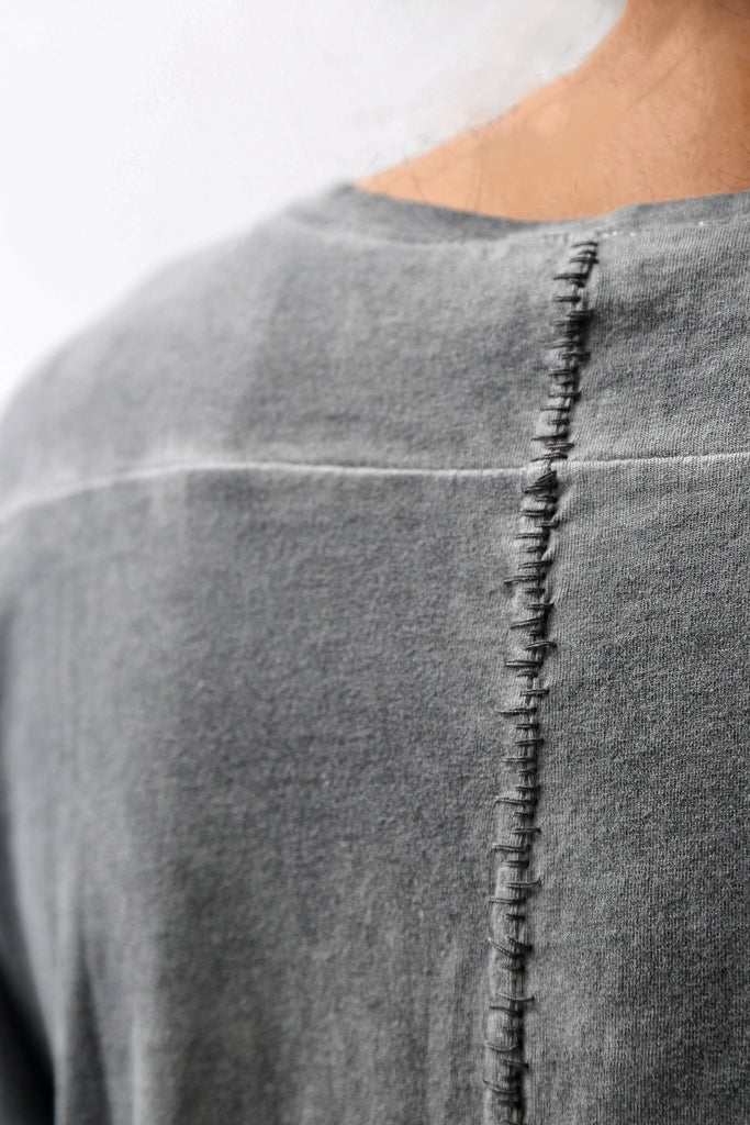 1902-CT02/LS Back Stitch Crush Cut / LS Charcoal