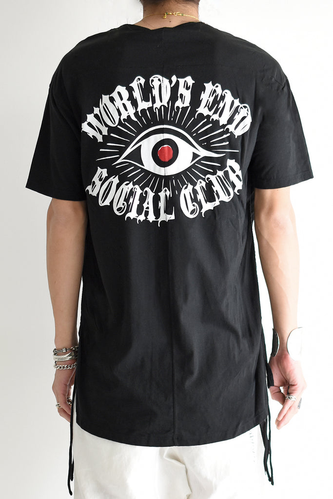 1901-CT02B/SS Side Shirring World's End Cut 02 / SS Black
