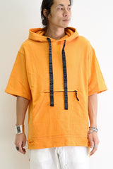 1901-TP02A Hooded Crush Pullover Orange