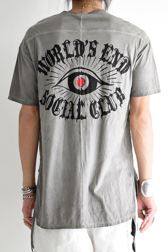 1901-CT02B/SS Side Shirring World's End Cut 02 / SS P.Charcoal