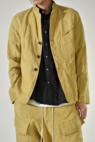 2001-JK10A Linen Tailored JKT 04 Yellow