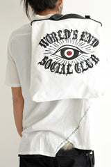 1901-BG10 World's End Twill 2way Tote / M White