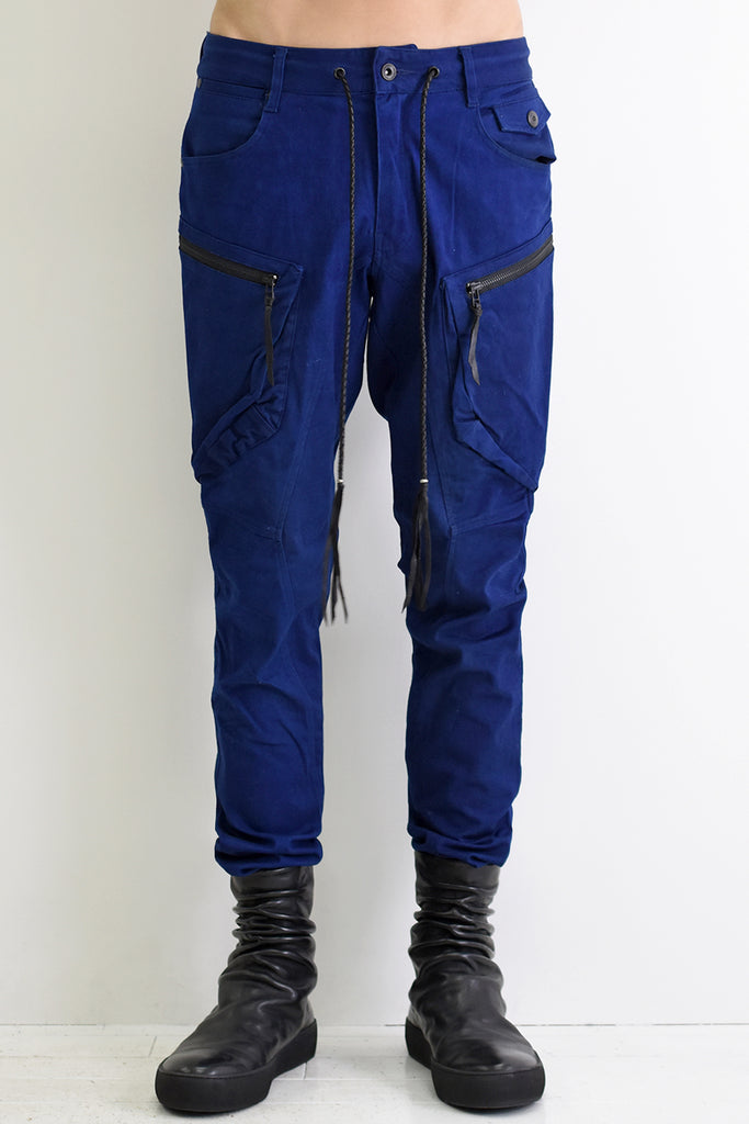 1901-PT06 Double Pockets Pants 02 Indigo