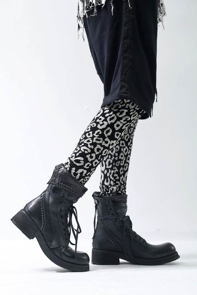 1902-PT10A Leopard Leggings -Men's-