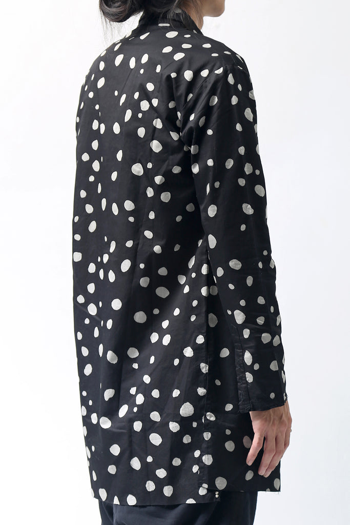 1902-SH01 Polka Dot Long Shirt