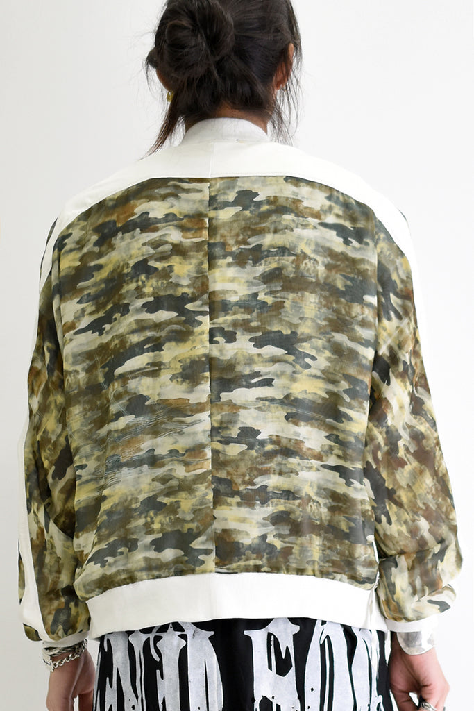 1901-JK10A Leather Combi Printed Dolman Camo