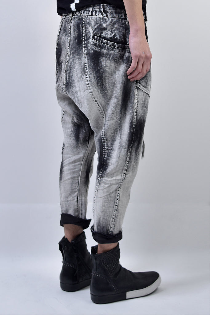 2101-PT03 Discharged Linen Layered Pants