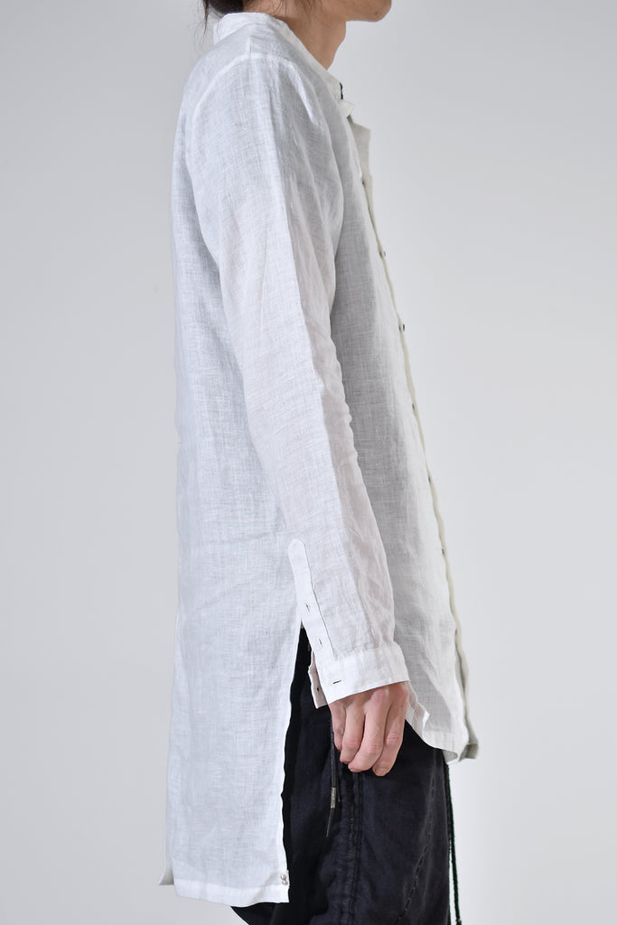 2001-SH06/LS Stand Collar Long Shirt / LS White