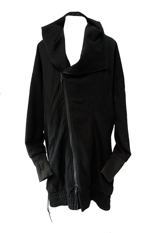 Fleece Drape Rider Coat