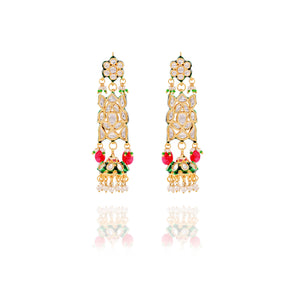Golden and Kundan Jhumkis