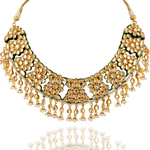 Load image into Gallery viewer, Heavy Kundan Bridal Necklace set