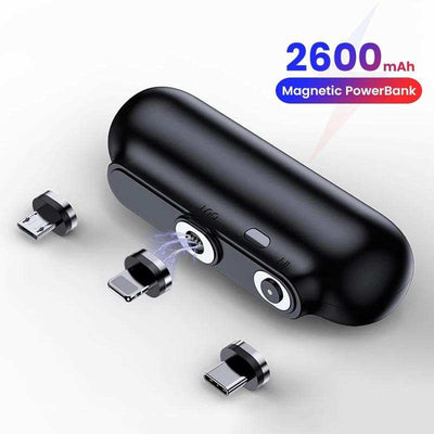 For iPhone 12 Magnetic Power Bank 2600mAh Mini Magnet Charger Power Bank