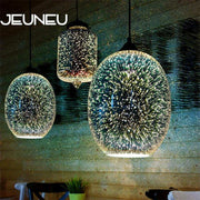 Modern 3D Glass Shade Pendant Lamp