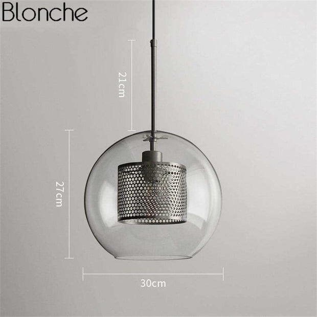Blonche Loft Led Glass Ball Hanging Lamp