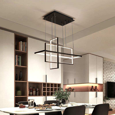 Postmodern Loft Rectangle Chandelier Hanging Light