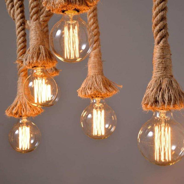 Hemp Rope Pendant Lights