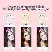 Selfie Ring Light With Long Arm Lazy Mobile Phone Holder