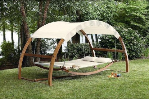 Beau ... Porch Swing Bed Hammock Patio Furniture Hanging Canopy Wood