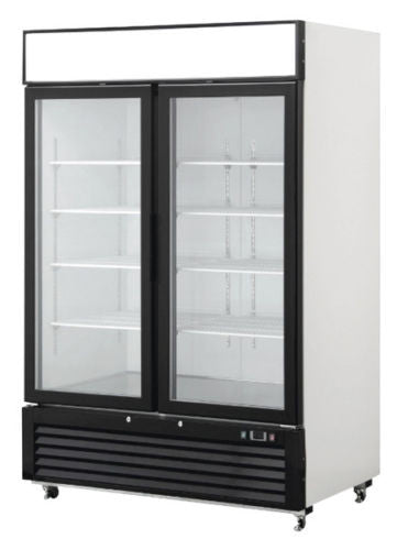 2 Door Glass Front Reach In Freezer Merchandiser
