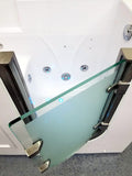 "56"" Deluxe Jetted Walk-In Bath Tub Hydrotherapy Whirlpool Spa BathTub Water / Air - SYM5627A"