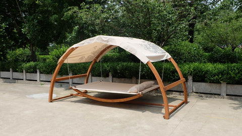 Porch Swing Bed Hammock Patio Furniture Hanging Canopy Wood - Porch Swing Hammock Bed Patio Furniture Hanging Canopy Wood – San