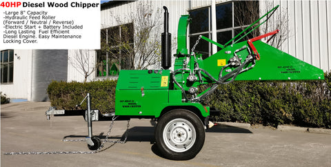40HP Diesel Wood Chipper
