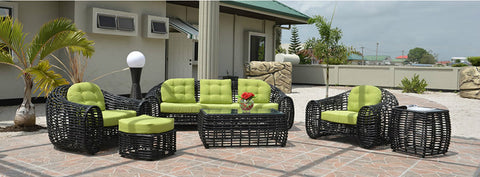 San Felipe 6 Piece PE Rattan / Wicker Outdoor Patio Furniture Set