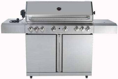 8 Burner 96,000 BTU Stainless Steel Outdoor BBQ Grill Propane NG Rotisserie