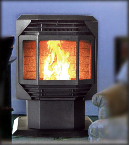 Bay Front Wood Pellet Stove Heater Furnace Fireplace Sdi