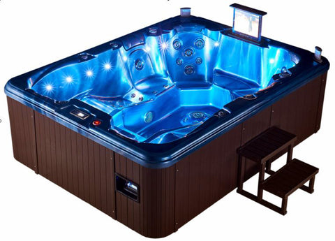 7 Person Outdoor Hot Tub Whirlpool Spa with 110 Jets - Extended Length