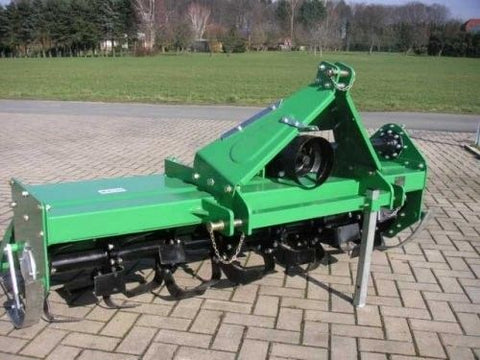 "59"" Tractor Farm Tiller 3 Point Hitch Heavy Duty Rotary Cat1 PTO GREEN - HTL150"