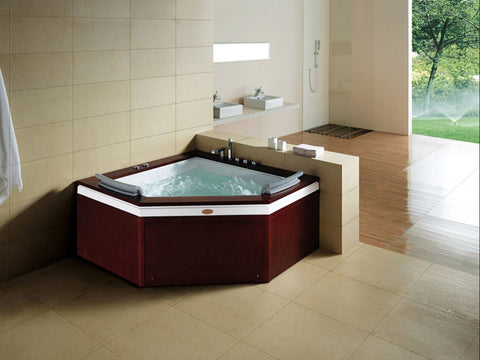 Indoor 2 Person Whirlpool Hydrotherapy Massage Spa Bathtub CORNER Bath Tub - SYM0503A
