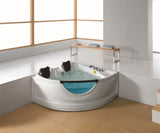 2 Person Corner Hydrotherapy Whirlpool Bathtub Spa Massage Therapy Hot Bath Tub - SYM150150A