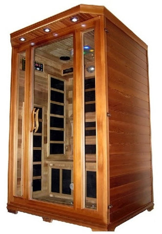 2 Person Canadian Red Cedar Carbon Fiber Infrared Sauna